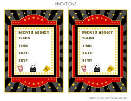 Theatre Invitation Templates Free Free Movie Night Party Printables By Printabelle Diy Crafts