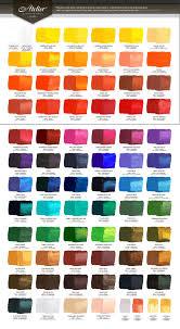 Atelier Acrylic Colour Chart Atelier Colour Chart Victorian Artists Supplies