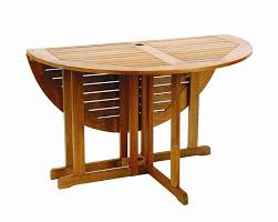 The Gateleg Patio Table And Stowable Chairs  Hammacher SchlemmerFolding Garden Table Sets