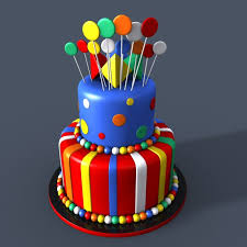3d Models Birthday Cake Cgtrader