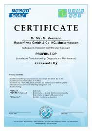 indu sol profibus certificate