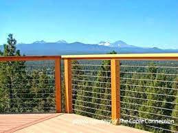 horizontal deck railing ideas stainless steel cable porch railings metal diy