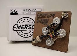 emerson custom gibson sg prewired kit