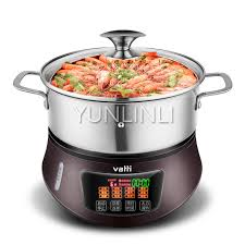 electric steam cooker. Exellent Steam Household Electric Steam Hot Pot Multifunctional Cooker  Chafing Dish Steamer HGZQ Throughout O