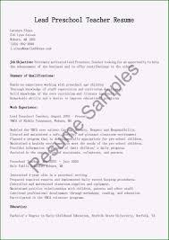 Sample Resume For Teachers Job Preschool Teacher Job Description Resume Spectacular Resume