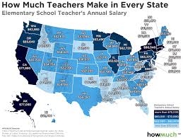 Teacher Pay In California Chart The Best And Worst States For Teachers Wages