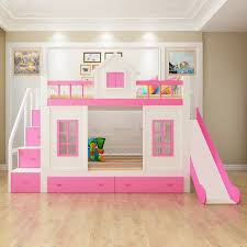 Bunk bed with stairs for girls Pink Purple Wood Bunk Bed With Stairs And Slide Option Pinterest Wood Bunk Bed With Stairs And Slide Option Ava And Adalyn In 2019