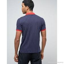 fila vintage polo. fila vintage   polo shirt in pinstripe 944035