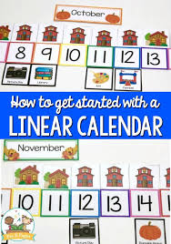 How To Make And Use A Linear Calendar In Preschool
