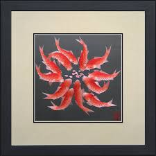 com king silk art 100 handmade embroidery framed twelve red anese koi oriental wall hanging art asian decoration tapestry artwork picture gifts
