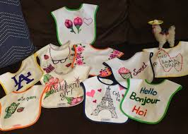 Decorate Baby Bibs Sharpie Baby Bibs Baby Shower Game Diy Decorate Bibs Baby