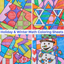 Small Picture Math Coloring sheets for the Holidays