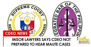 sherlyn name. cdeo lawyers said that cdo courts are not ready to handle maute cases sherlyn name