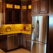 kitchen ideas cherry cabinets. Transitional Kitchen With Cherry Wood Cabinets And Stainless Steel Appliances Ideas E
