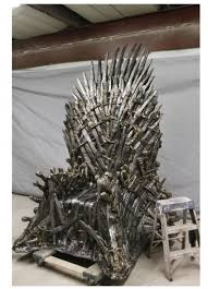 life size iron throne life size replica iron throne from game of thrones collider