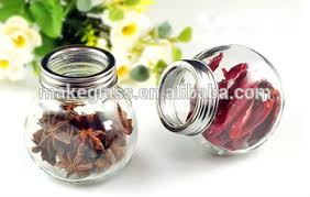 Decorative Spice Jars Round Glass Spice Jar With Metal Shaker Sifter Lid Buy Glass Jar 70