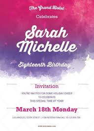 design templates for invitations watercolor debut invitation template invitation card templates