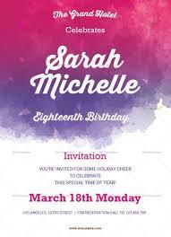 design templates for invitations watercolor debut invitation template invitation card templates