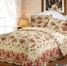 ROSE flower embroidery bedspread Europe Beige Blue Green color ... & ROSE flower embroidery bedspread Europe Beige Blue Green color KING SIZE  cotton Quilting 3pcs set water Adamdwight.com