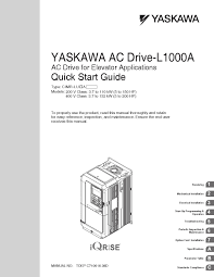 yaskawa l1000a manuale start guide by data movilift issuu