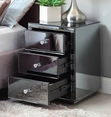 vegas white glass mirrored bedside tables. Vegas Mirrored White Glass Bedside Tables Chrome Marvelous Table