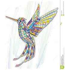 сделанный по образцу колибри летая иллюстрация вектора иллюстрации
