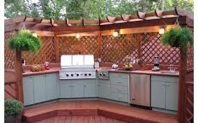 Cuisine Exterieure Bois Homeinteriorplus