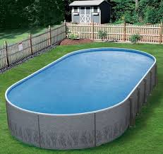 radiant oval backyard huge above ground pool v93