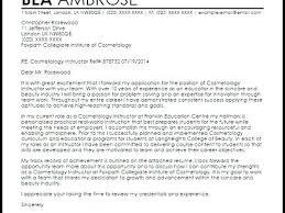 Cosmetology Cover Letter Samples Sample Cover Letter For ...
