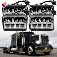 Peterbilt 379 Rear Light Bar Details About 2 Pair Chrome Led Headlight Bulb High Low Sealed Beam Fit Peterbilt 379 378 357
