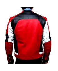 balmain quilted leather biker jacket men back