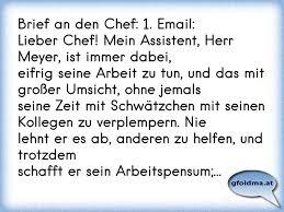 Brief An Den Chef 1 Emaillieber Chef Mein Assistent Herr Meyer