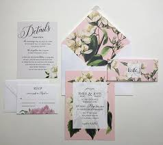 Sample Of Weeding Invitation Botanical Wedding Invitation Sample