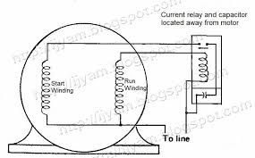 electrical control circuit schematic diagram of capacitor start current relay schematic capacitor start motor using current relay