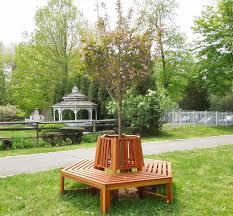 memorial tree bench options 7 ft redwood no beverage ledge no