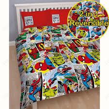 Marvel Avengers Comics Justice Double Duvet Quilt Cover Boys Kids ... & MARVEL COMICS JUSTICE DOUBLE DUVET COVER SET REVERSIBLE IRON MAN THOR HULK  NEW Adamdwight.com
