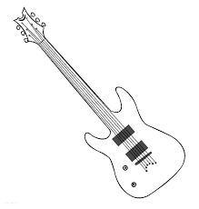 Small Picture Easy Electric Guitar Coloring Page Coloring Coloring Pages