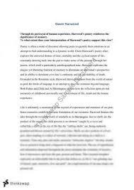 gwen harwood poetry essay year hsc english advanced  gwen harwood essay
