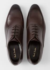 men s dark brown calf leather fleming oxford shoes by