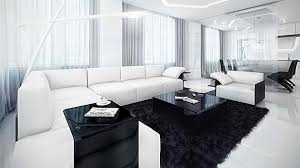 40 Modern Contemporary Black And White Living Rooms Home Design Lover Best White On White Living Room Decorating Ideas