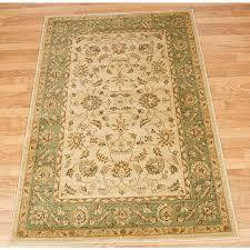 ziegler 7709 cream green traditional rug by mastercraft