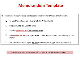Memorandums And Letters Powerpoint Ppt Memorandums Memos Correspondence Used Within An