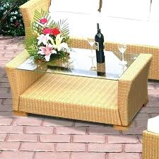 round wicker coffee table white with glass top outdoor tables by c storage coff