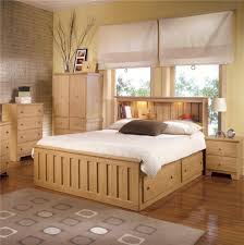 Shaker Bedroom Furniture Sets Lang Shaker King Bookcase Bed With Under Bed Drawer Storage