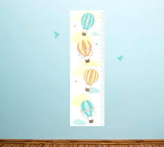 growth chart hot air balloons wall decals decal sticker australia balloon