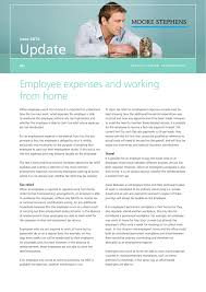 employee expenses and working from home