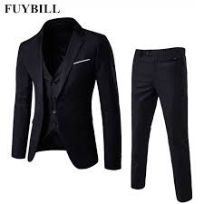 FuyBill New Style Fashion <b>Large Size Men's Business</b> Suit Three ...
