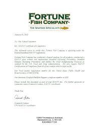 Haccp Letter Of Compliance 2014 Haccp Alliance Online