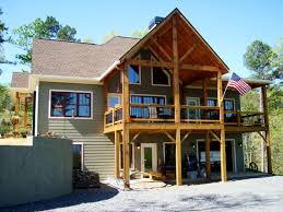 craftsman porch on rustic house plan