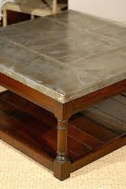 zinc top coffee table new magnificent solid oak for designs round reclaimed wood restoration hardware zinc table bedside tables top coffee argo hardwar